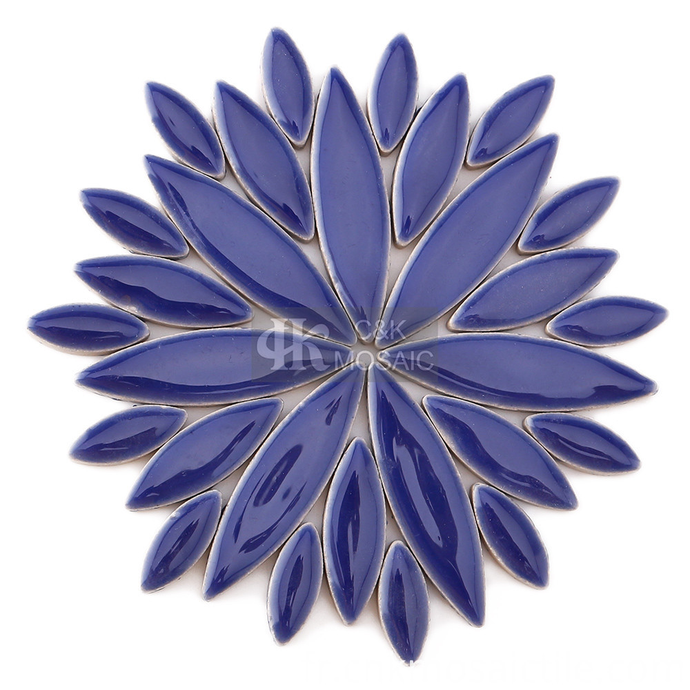 Blue Petal Mosaic Decorative Tiles for Design