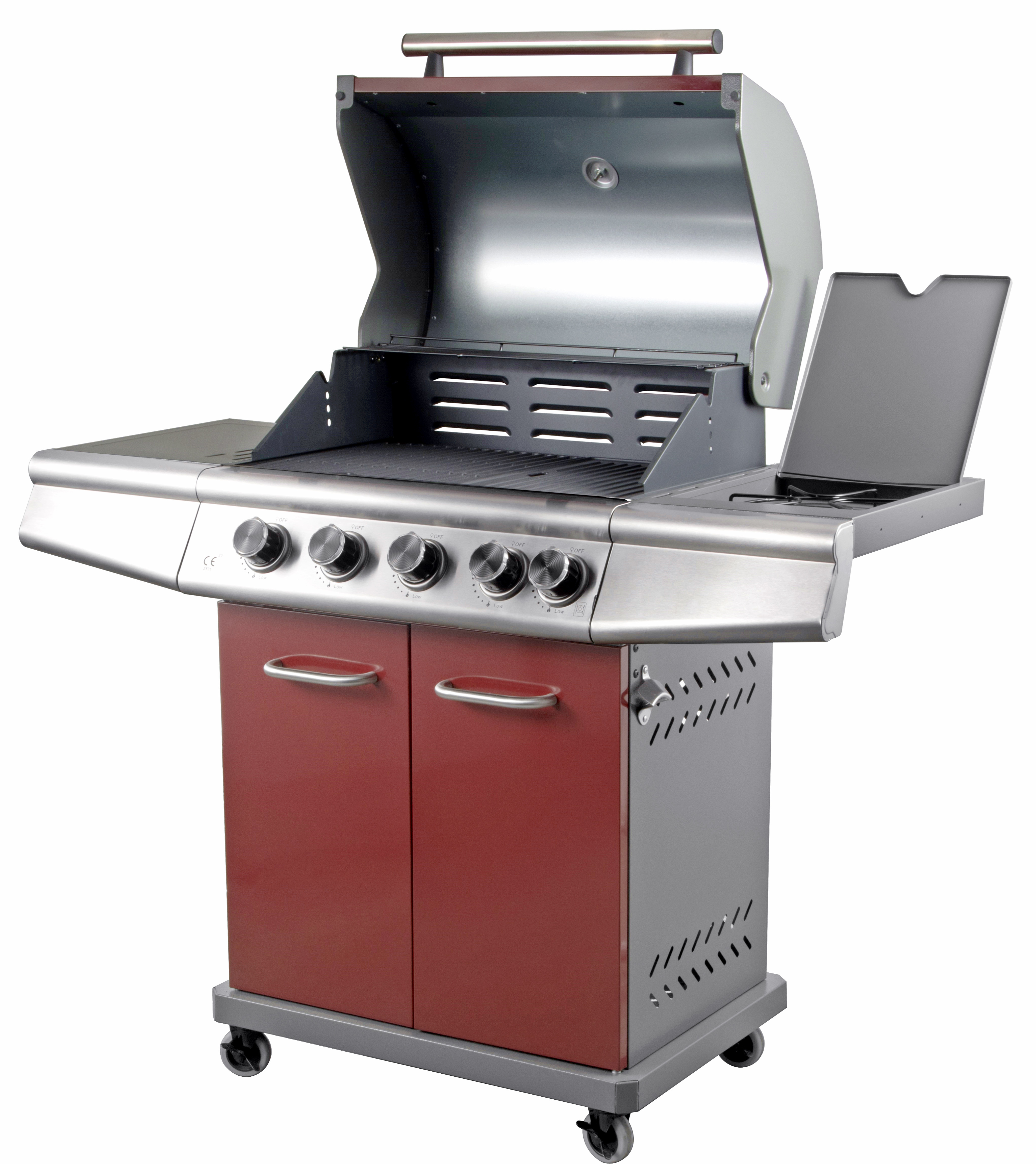 Red Colour 4 Burner Gas Grill