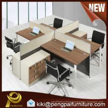 Modern 2-4 person desk top partition white computer workstation desk