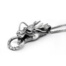 Drachen Halskette Anhänger Mode Accessoires Unisex 316L Edelstahl