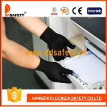 13G Black Nylon Polyester Gloves Dch127