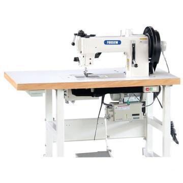 Flat Bed Compound Feed Walking Foot Heavy Duty Lockstitch Sewing Machine