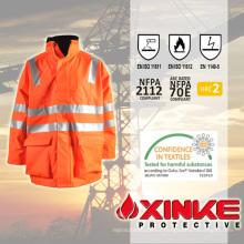 Chaqueta de alta visibilidad impermeable y resistente al fuego Xinke impermeable