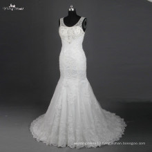 RSW782 Boat Neckline Backless Lace Mermaid Wedding Dress Patterns