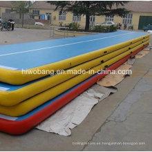 Colchón de aire de gimnasia inflable colchón gota puntada