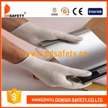 Natural Cotton Knitted Working Gloves Pass Ce Dck704