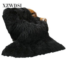 Penuh Pelt Fashion Mongolian Lamb Fleece Fur Blanket