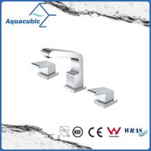 Chromed Surface 3 Holes Dual Handle Brass Bathtub Faucet (AF6015-2)
