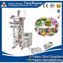 Embalagem de grãos, açúcar, arroz, lanche, feijão em saco de plástico até 500 gramas verticais wrapping máquina