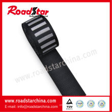 2cm width striped black reflective webbing tape for clothing