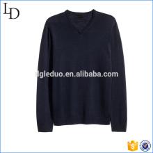 Suéteres de lana Vneck negros para hombres con capucha de manga larga diseño de suéter
