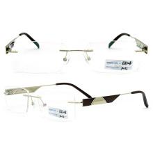 Rimless Metal Titanium Eyeglass Frames (BJ12-308)