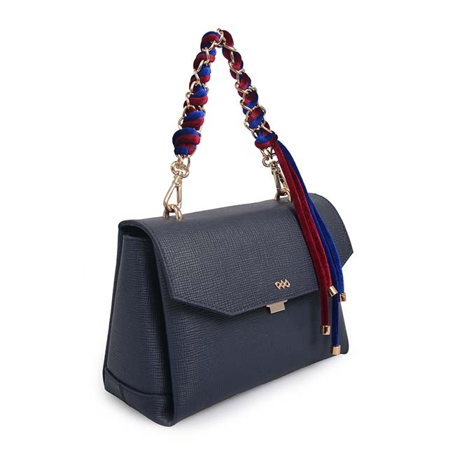 Fashion contrast color tassel decoration shoulder bag for women PU ladies bag handbag