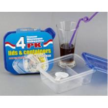 Dois, compartimentos, dividido, Microwavable, plástico, levar, afastado, alimento, Recipiente