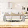 Küche Edelstahl Metalldraht Abtropfgestell