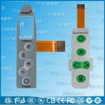 Sensor de membrana de sensor personalizado com circuito flexível FPC