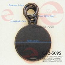 Círculo e rodada Zipper Slider / extrator (G13-309S)