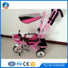 Die billige Baby Kinder Kinderwagen Dreirad mit Dach und Rücksitz vorderen Korb / Besten Angebote auf Pakistan Kinder Dreirad mit CE bewiesen