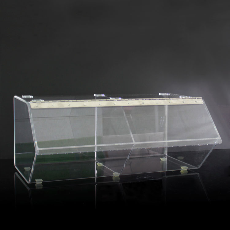 Custom Large Acrylic Bread Display Box Wholesale