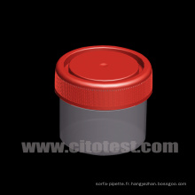 Conteneur de spécimen en plastique de 50 ml avec graduation