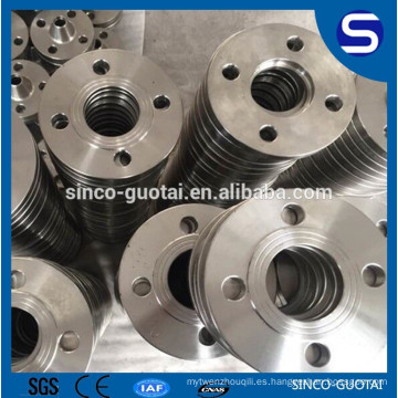 ANSI B16.5 acero inoxidable forjado brida de tubo en blanco