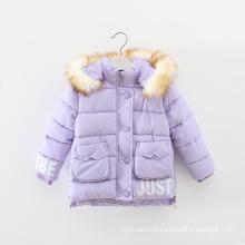 As crianças novas do revestimento de 2015 crianças do revestimento do inverno do projeto vestem-se para meninas