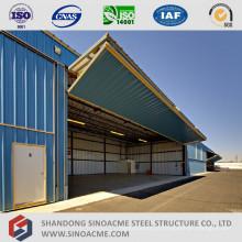 Hangar de avião de estrutura de aço leve