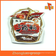 2015 Special shaped popping food plastic pouch