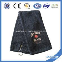 100% coton brodé serviette de golf (SST1021)
