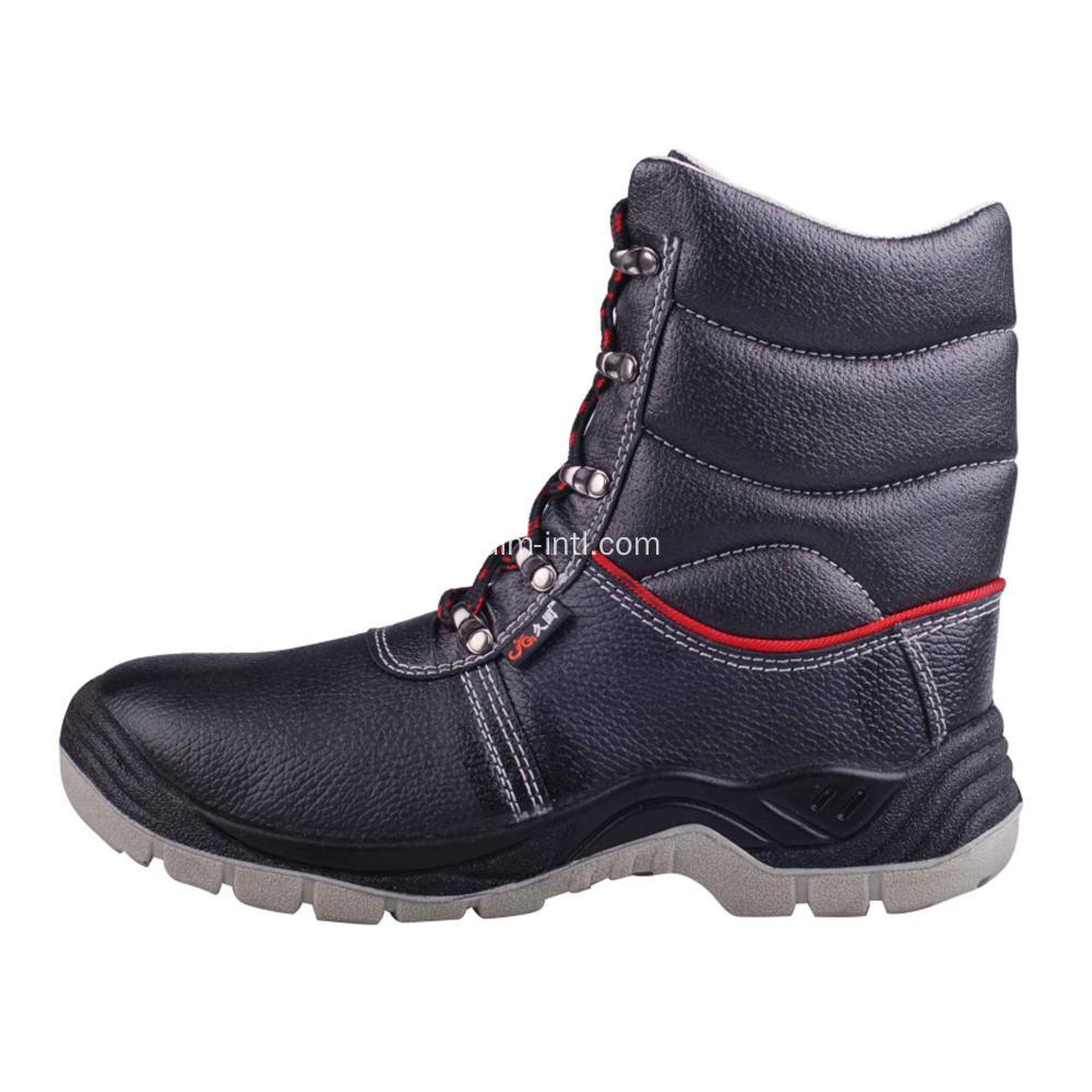 Smooth Leather / PU Outsole Safety Boots