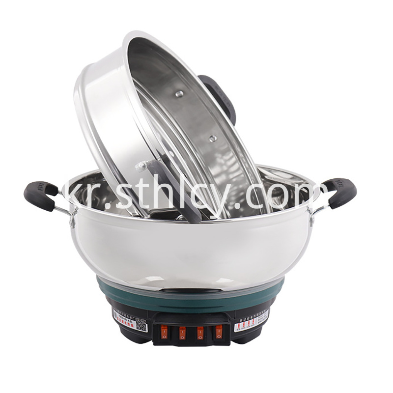 Double Electric Stainless Steel Pot