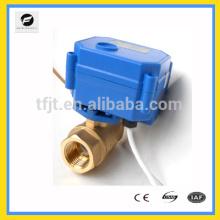2-полосная латунь электрический клапан, моторизованный клапан дм3.6В 12В 24В с сигналом обратной связи и безаварийности объектов для обнаружения утечки воды