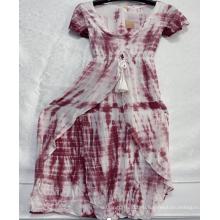 Женские платья из вискозы с v-образным вырезом