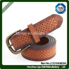 2015 Design Classique pour Homme Top Selling Unique True Leather Hollow Leather Belt