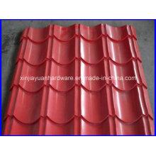 Folha de telhado galvanizado corrugado pre-pintado novo do estilo