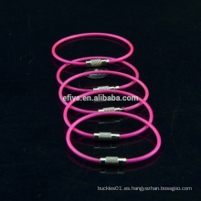 2015-2016 venta caliente inoxidable llavero de cables llavero fabricante welcome to order