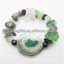 Natural chip stone stretch bracelet SB0030