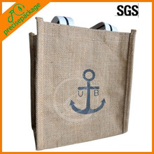 Nuevo bolso caliente del yute de las compras de la marina de guerra del diseño de la venta para la promoción