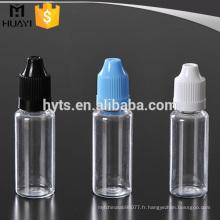 Bouteilles en plastique de compte-gouttes d'e-liquide d'animal familier de 10ml 20ml