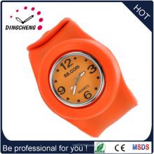 Reloj de manera caliente de Squartz de la palmada del deporte del silicón del regalo de la promoción de la venta (DC-700)