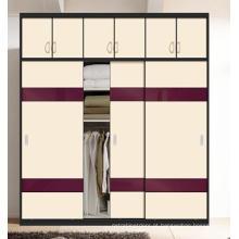 Armário de madeira da porta deslizante para o quarto (ZH001)