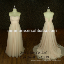 By Fashion Comely A Line Strapless Floor Length Chiffon With Beading Evening Dress