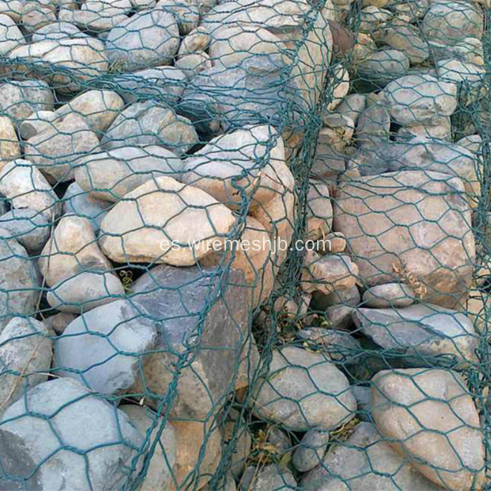 Gabion Basket-Vinyl Coated Hexagonal Wire Mesh Type