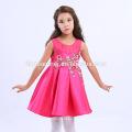 2017 Approvisionnement d'usine couleur unie Brodé bébé fille robe de soirée enfants robes conceptions