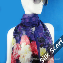 Printed Long Silk Scarf for Wholesale