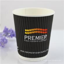 Papier-Kaffeetassen der Großverkauf-Wegwerfrippel-Wand-Art-8oz