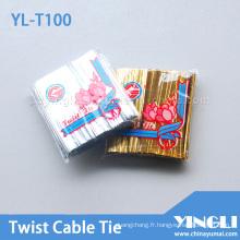 Cravate torsadée réutilisable de différentes longueurs