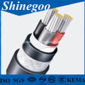XLPE insulated PE sheathed armoured power cable