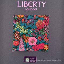 Benutzerdefinierte hochwertige Digitaldruck Liberty Print Baumwollstoff
