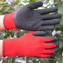 Gant de travail de sécurité à gants de latex à gaine de calibre 10 Gauge